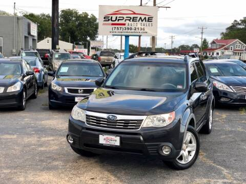 2009 Subaru Forester for sale at Supreme Auto Sales in Chesapeake VA