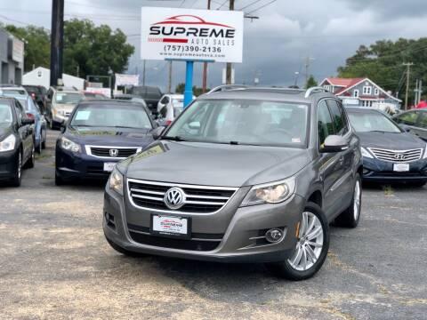 2010 Volkswagen Tiguan for sale at Supreme Auto Sales in Chesapeake VA