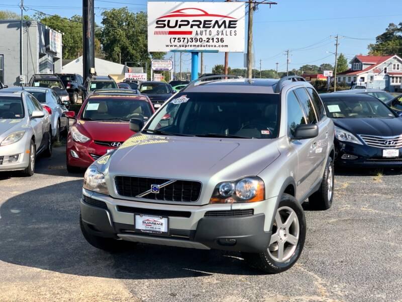 2005 Volvo XC90 for sale at Supreme Auto Sales in Chesapeake VA