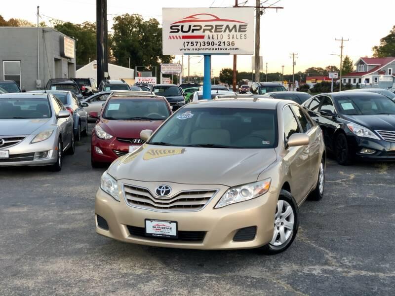2011 Toyota Camry for sale at Supreme Auto Sales in Chesapeake VA