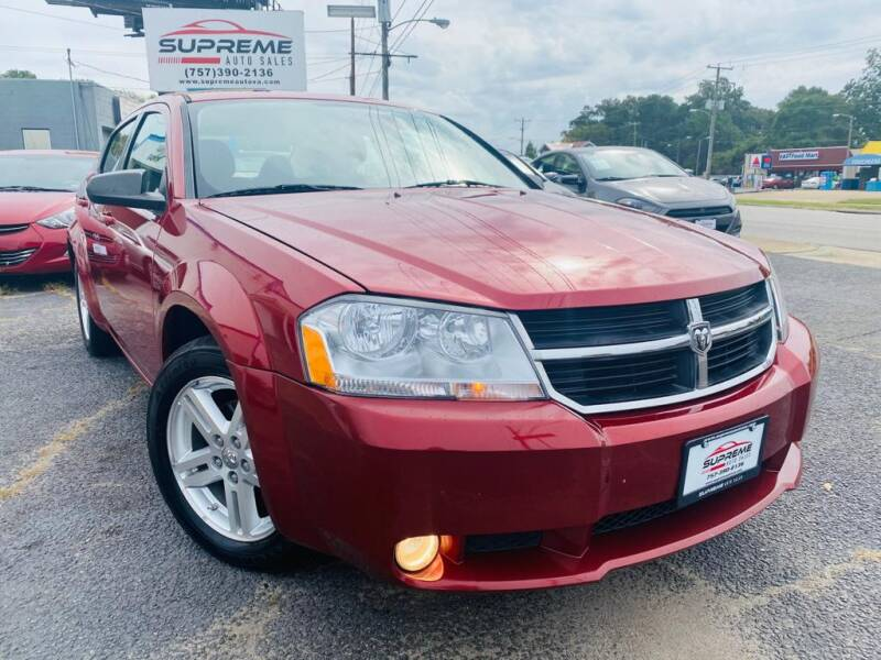 2009 Dodge Avenger for sale at Supreme Auto Sales in Chesapeake VA