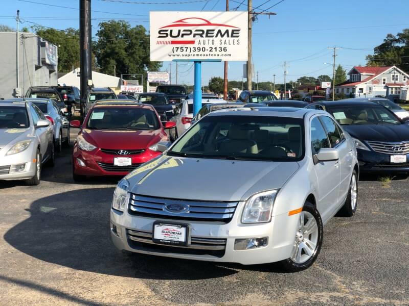 2006 Ford Fusion for sale at Supreme Auto Sales in Chesapeake VA