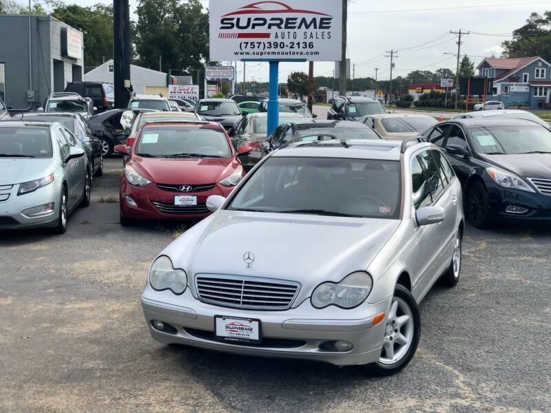 2003 Mercedes-Benz C-Class for sale at Supreme Auto Sales in Chesapeake VA