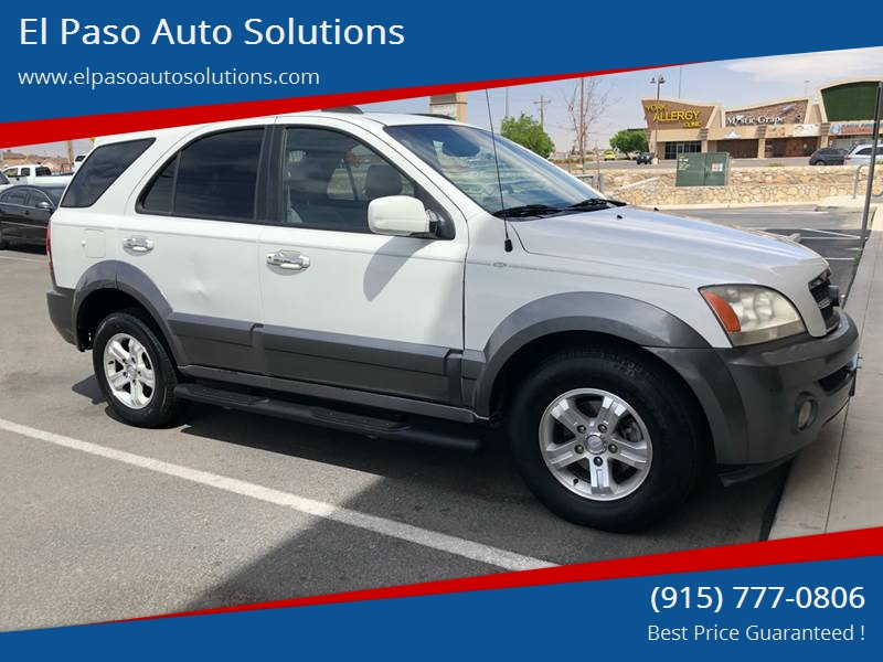 2006 Kia Sorento For Sale At El Paso Auto Solutions In El Paso TX