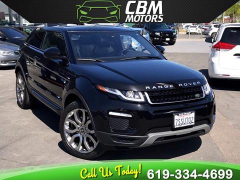2016 Land Rover Range Rover Evoque Coupe for sale in El Cajon, CA