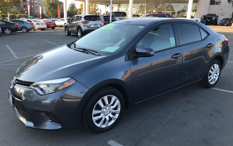 2015 TOYOTA COROLLA LE 4DR SEDAN gray need financing we can help call now call today call the