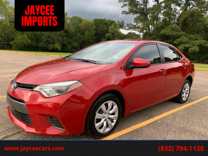 2016 Toyota Corolla for sale at JAYCEE IMPORTS in Houston TX