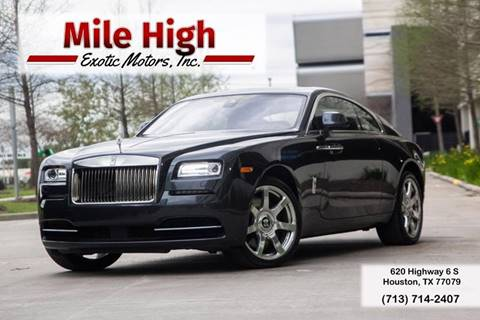 2016 Rolls-Royce Wraith for sale in Houston, TX