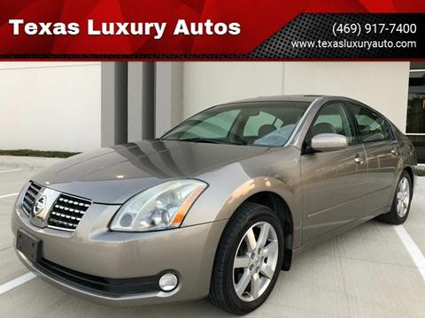 2006 Nissan Maxima for sale at Texas Luxury Auto in Cedar Hill TX