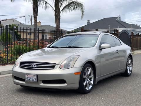 2004 Infiniti G35 for sale at ZaZa Motors in San Leandro CA