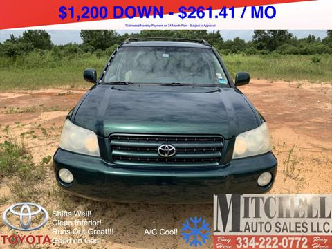 2001 Toyota Highlander for sale at Mitchell Auto Sales LLC in Andalusia AL