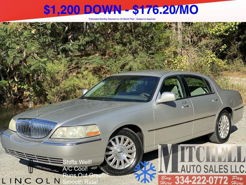 2003 Lincoln Town Car for sale at Mitchell Auto Sales LLC in Andalusia AL