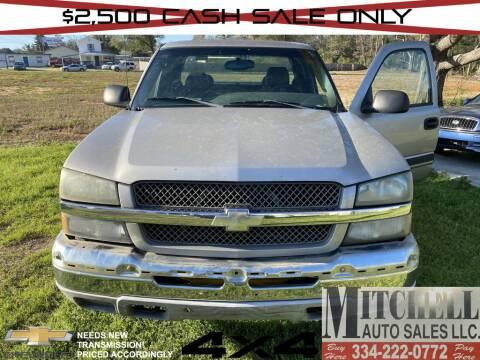 2004 Chevrolet Silverado 1500 for sale at Mitchell Auto Sales LLC in Andalusia AL