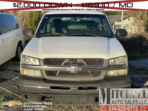2005 Chevrolet Silverado 1500 for sale at Mitchell Auto Sales LLC in Andalusia AL