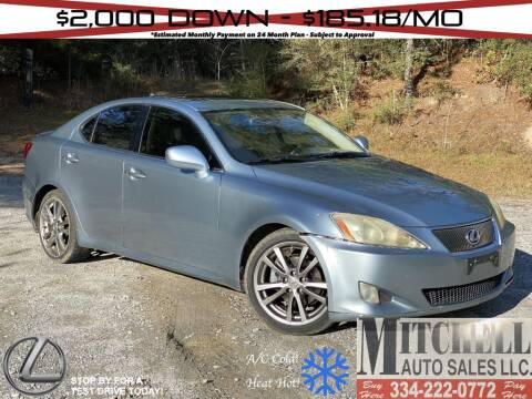 2008 Lexus IS 250 for sale at Mitchell Auto Sales LLC in Andalusia AL