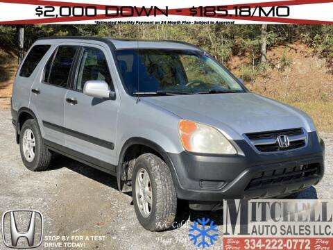 2003 Honda CR-V for sale at Mitchell Auto Sales LLC in Andalusia AL