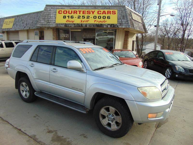 2003 Toyota 4Runner for sale at Courtesy Cars in Independence MO