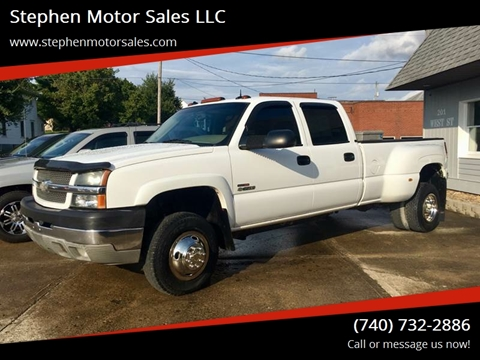 2003 Chevrolet Silverado 3500 for sale at Stephen Motor Sales LLC in Caldwell OH
