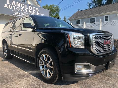 2016 GMC Yukon XL for sale at Langlois Auto and Truck LLC in Kingston NH