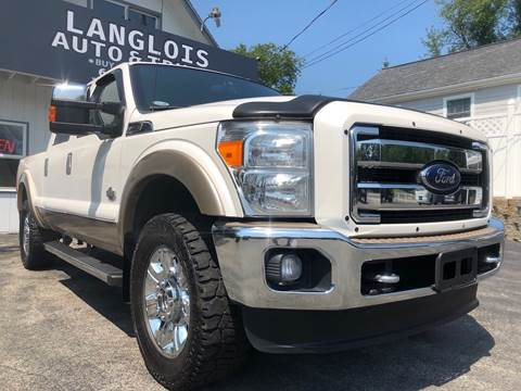 2012 Ford F-250 Super Duty for sale at Langlois Auto and Truck LLC in Kingston NH