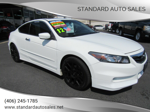 2012 Honda Accord for sale at Standard Auto Sales in Billings MT