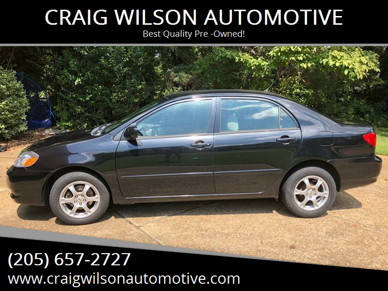 2007 Toyota Corolla For Sale At CRAIG WILSON AUTOMOTIVE In Tuscaloosa AL