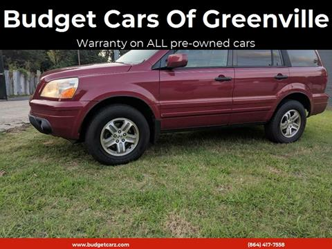 2003 Honda Pilot for sale at Budget Cars Of Greenville in Greenville SC