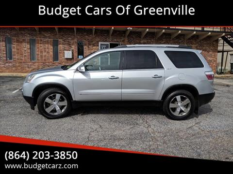 2010 GMC Acadia for sale in Greenville, SC