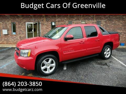 Chevrolet Greenville Sc >> 2007 Chevrolet Avalanche For Sale In Greenville Sc