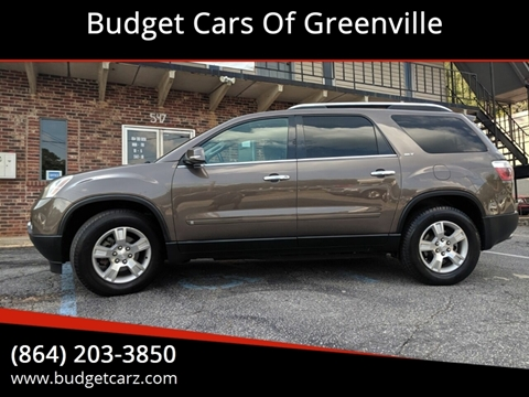 Gmc Acadia For Sale In Greenville Sc Budget Cars Of Greenville