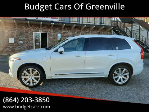 2017 Volvo XC90 T8 eAWD Inscription for sale at Budget Cars Of Greenville in Greenville SC