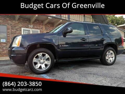 2008 GMC Yukon SLT for sale at Budget Cars Of Greenville in Greenville SC