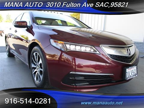 2016 Acura TLX for sale in Sacramento, CA
