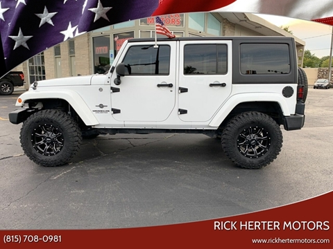 2015 Jeep Wrangler Unlimited for sale at Rick Herter Motors in Loves Park IL