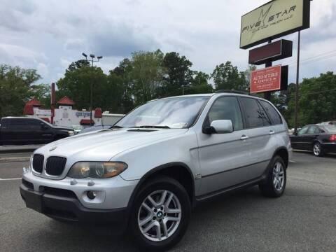 2005 BMW X5 for sale at Cj king of car loans/JJ's Best Auto Sales in Troy MI