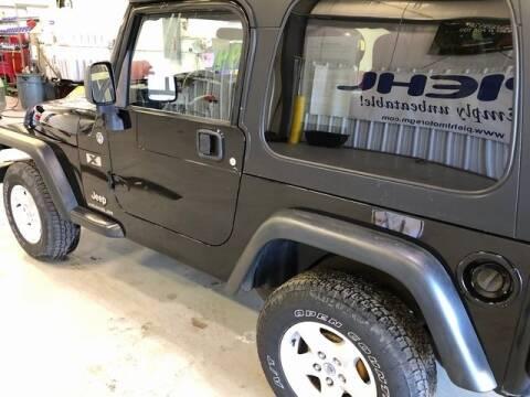 2005 Jeep Wrangler for sale at Cj king of car loans/JJ's Best Auto Sales in Troy MI