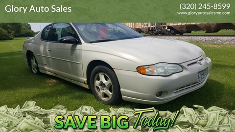 2003 Chevrolet Monte Carlo for sale in Nelson, MN