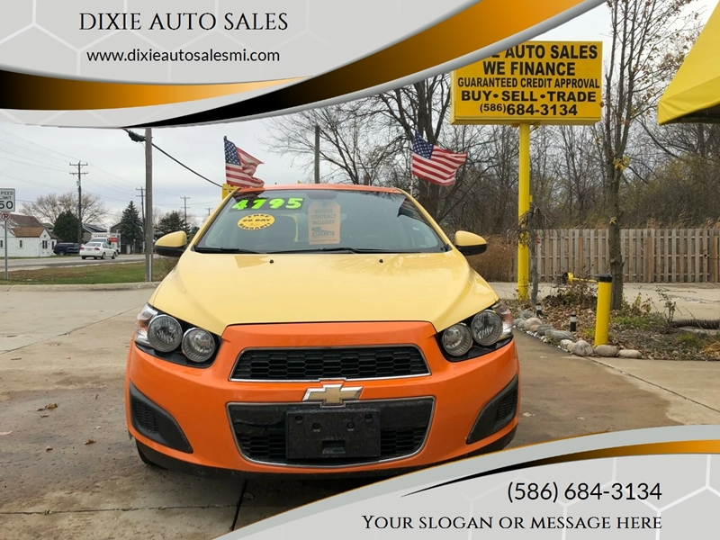 Dixie Auto Sales >> 2012 Chevrolet Sonic Ls In Fair Haven Mi Dixie Auto Sales