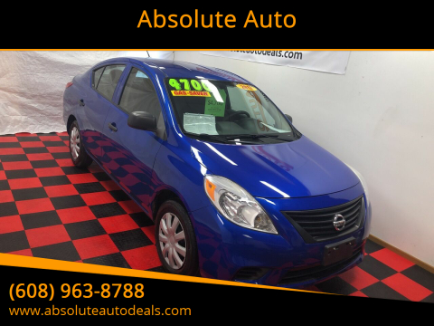 2012 Nissan Versa 1.6 S for sale at Absolute Auto in Baraboo WI