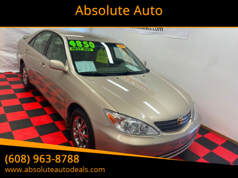 2004 Toyota Camry LE V6 for sale at Absolute Auto in Baraboo WI