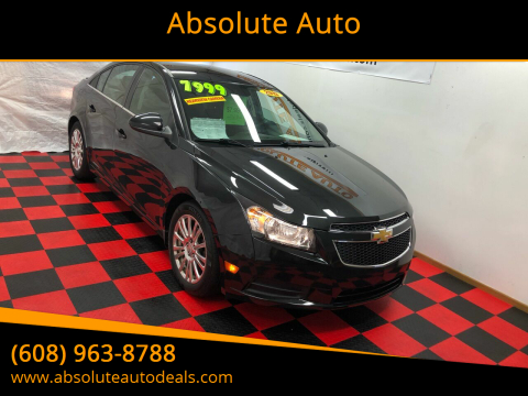 2013 Chevrolet Cruze ECO Auto for sale at Absolute Auto in Baraboo WI