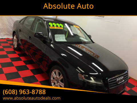 2010 Audi A4 for sale at Absolute Auto in Baraboo WI