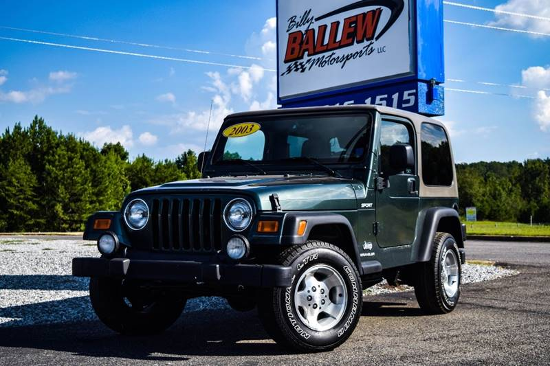 2003 Jeep Wrangler For Sale At Billy Ballew Motorsports In Dawsonville GA