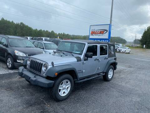 2014 Jeep Wrangler Unlimited for sale at Billy Ballew Motorsports in Dawsonville GA