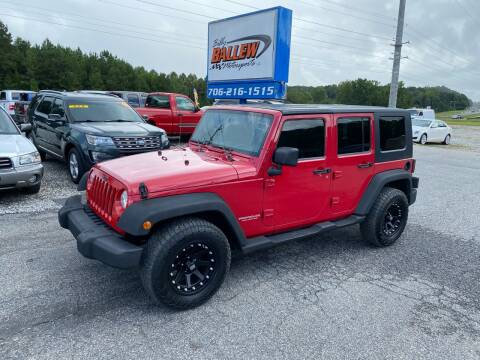 2008 Jeep Wrangler Unlimited for sale at Billy Ballew Motorsports in Dawsonville GA
