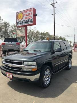 2005 Chevrolet Tahoe for sale at Central Valley Autos in Bakersfield CA