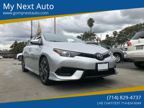 2017 Toyota Corolla iM for sale at My Next Auto in Anaheim CA