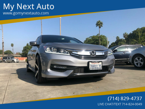 2016 Honda Accord for sale at My Next Auto in Anaheim CA