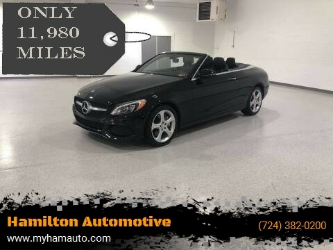 2017 Mercedes-Benz C-Class for sale at Hamilton Automotive in North Huntingdon PA