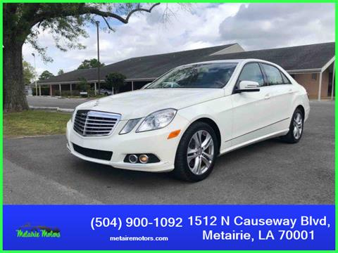 2011 Mercedes Benz E Class For Sale In Metairie La